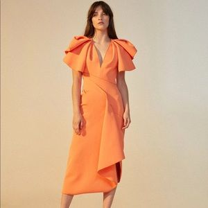 ACLER NWT redwood structured orange bodycon dress